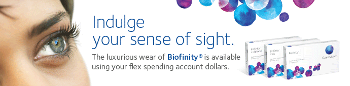 Biofinity contact lenses are monthly lenses that offer great comfort even in dry eyes
